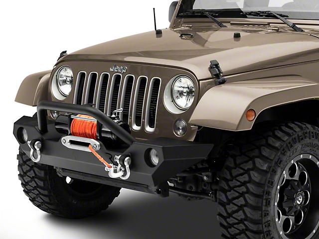 Rock Rage Front Bumper; Textured Black (07-18 Jeep Wrangler JK)