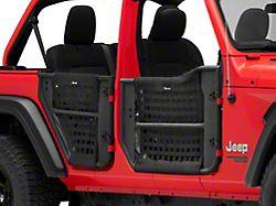 Front and Rear Trail Doors; Textured Black (18-21 Jeep Wrangler JL 4-Door)