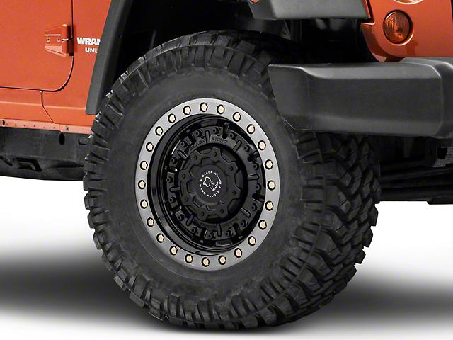Black Rhino Abrams Gloss Gunblack with Machined Dark Tint Lip Wheel; 17x9.5 (07-18 Jeep Wrangler JK)