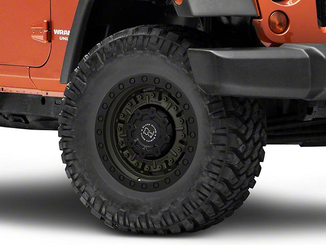 Black Rhino Abrams Olive Drab Green Wheel; 17x9.5 (07-18 Jeep Wrangler JK)
