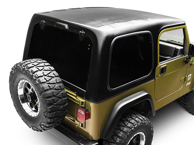 smittybilt jeep wrangler 1 piece hardtop w o upper doors textured black 519701 97 06 jeep. Black Bedroom Furniture Sets. Home Design Ideas