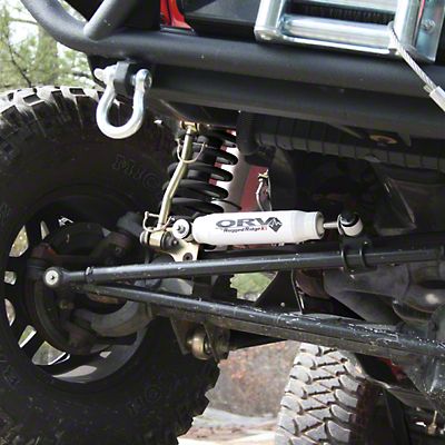 Rugged Ridge ORV Steering Stabilizer (87-06 Wrangler YJ & TJ)