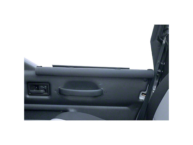 Rugged Ridge Half Door Armrests; Black (87-06 Jeep Wrangler YJ & TJ)