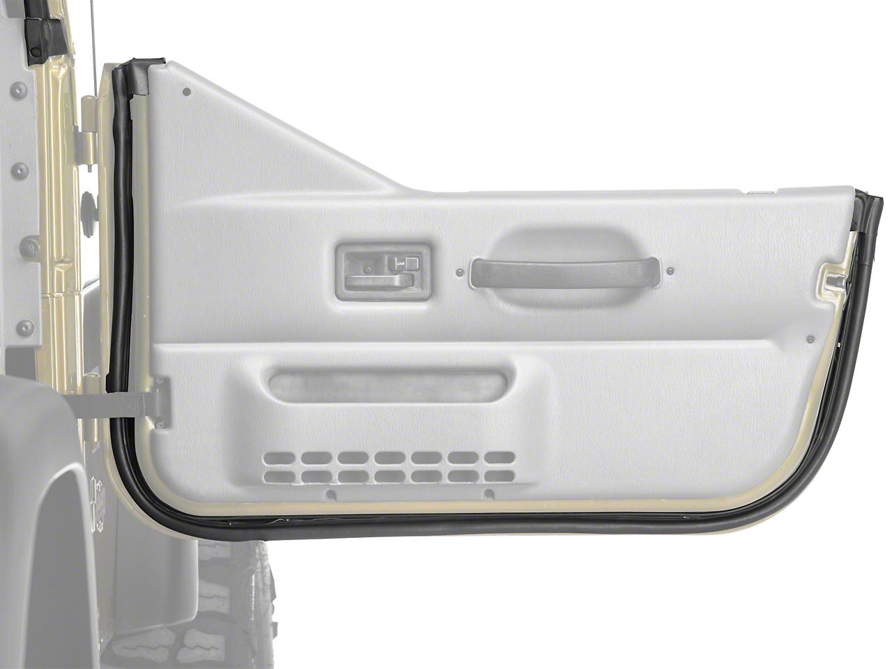 Omix-ADA Passenger Door Outer Seal For Half Door (97-06 Jeep Wrangler TJ)