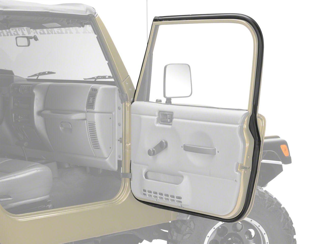 Passenger Outer Door Weather Stripping (97-06 Jeep Wrangler TJ w/ Full Doors)