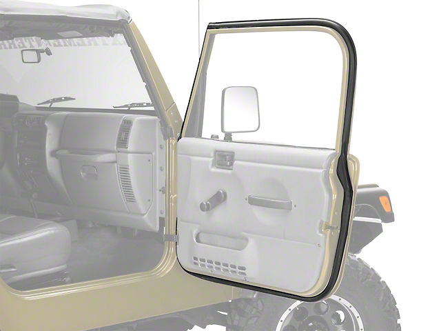 Omix-ADA Passenger Outer Door Weather Stripping (97-06 Jeep Wrangler TJ w/ Full Doors)