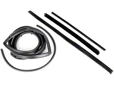 Omix-ADA Passenger Side Door Seal Kit w/ Hardtop & Fixed Vent Window (87-95 Wrangler YJ)