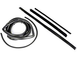 Door Weatherstrip Kit for Hard Tops with Fixed Vent Windows; Passenger Side (87-95 Jeep Wrangler YJ)