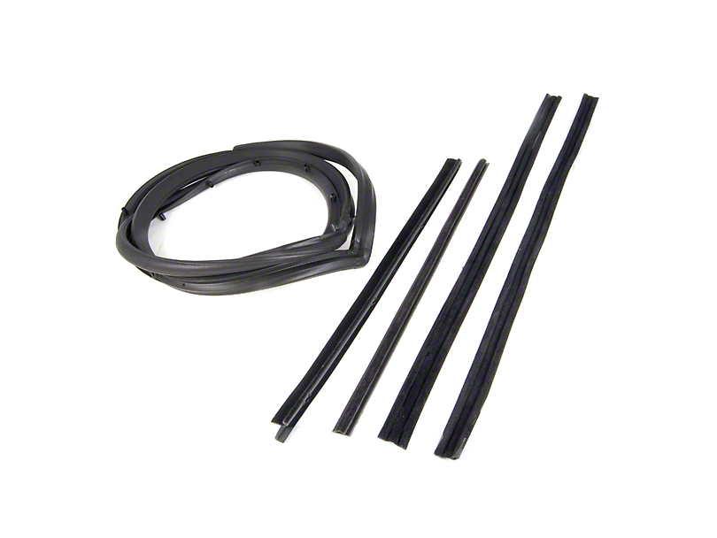 Omix-ADA Passenger Side Door Seal Kit w/ Hardtop & Moveable Vent Window (87-95 Wrangler YJ)