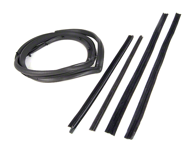 Passenger Side Door Seal Kit w/ Hardtop & Moveable Vent Window (87-95 Jeep Wrangler YJ)