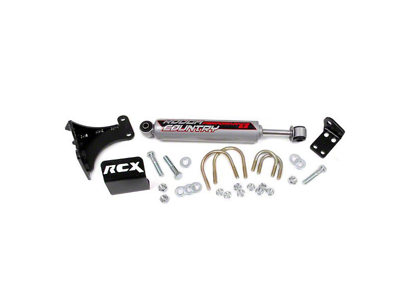 Rough Country Performance 2.2 Steering Stabilizer (07-18 Jeep Wrangler JK)