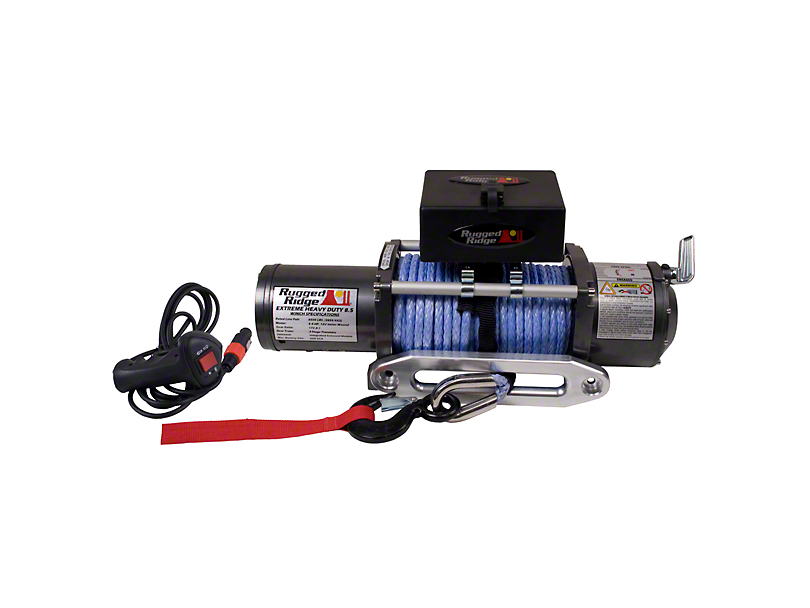 Rugged Ridge Performance 8,500 lb. Winch w/ Synthetic Rope