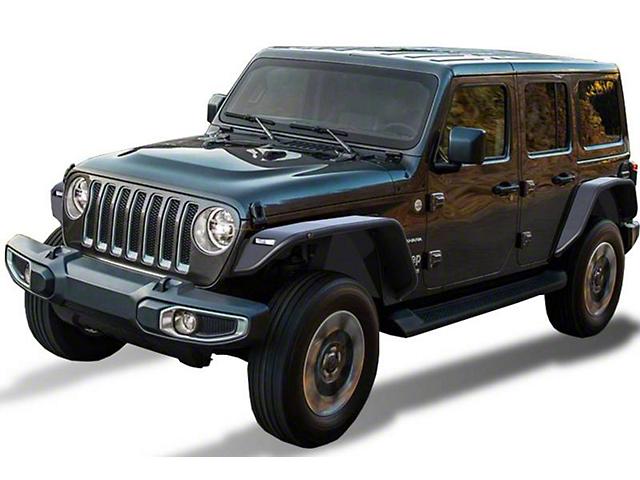 Tubular Inner Fender Flares; Front (18-21 Jeep Wrangler JL)