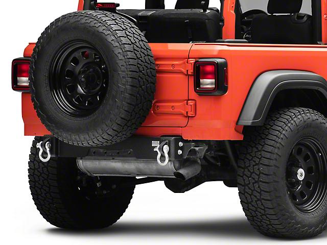 Fishbone Offroad Rear Bumper Delete; Textured Black (18-21 Jeep Wrangler JL)