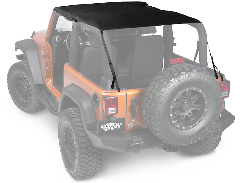 Rugged Ridge Pocket Island Top - Black Diamond (10-18 Jeep Wrangler JK 2 Door)