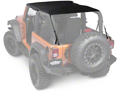 Rugged Ridge Pocket Island Top - Black Diamond (10-17 Wrangler JK 2 Door)