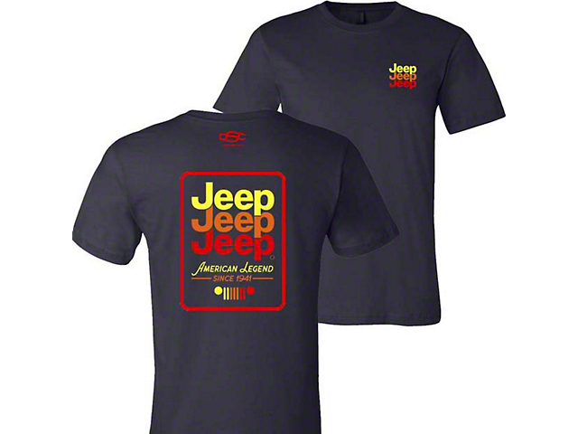 Men's Jeep Echo T-Shirt; Navy Blue
