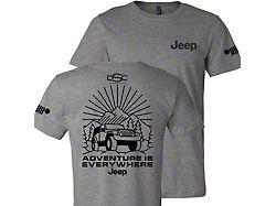 Men's Jeep Burst T-Shirt; Sport Gray