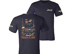 Men's Jeep Freedom To Roam T-Shirt; Navy Blue
