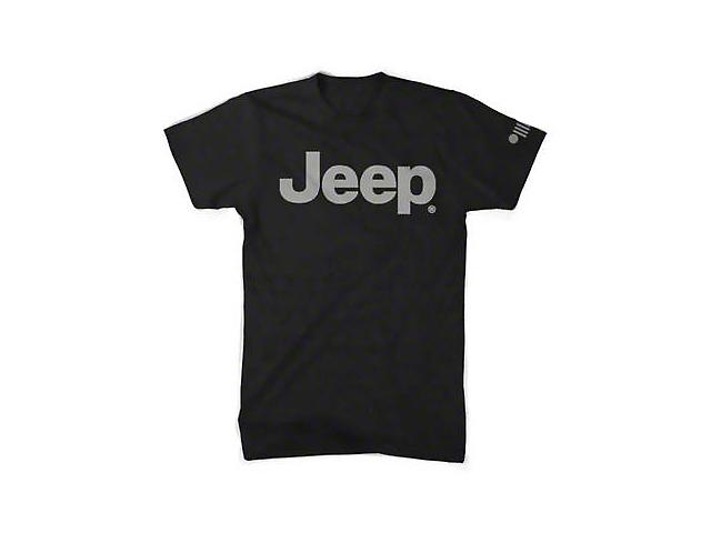 Men's Jeep Logo Blackout T-Shirt