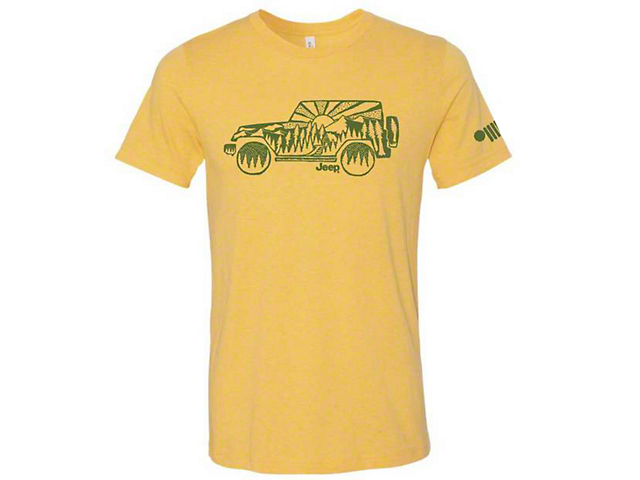 Men's Jeep Atomic Side T-Shirt; Heather Gold