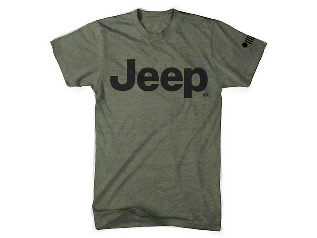 Men's Jeep Logo T-Shirt; Army Green