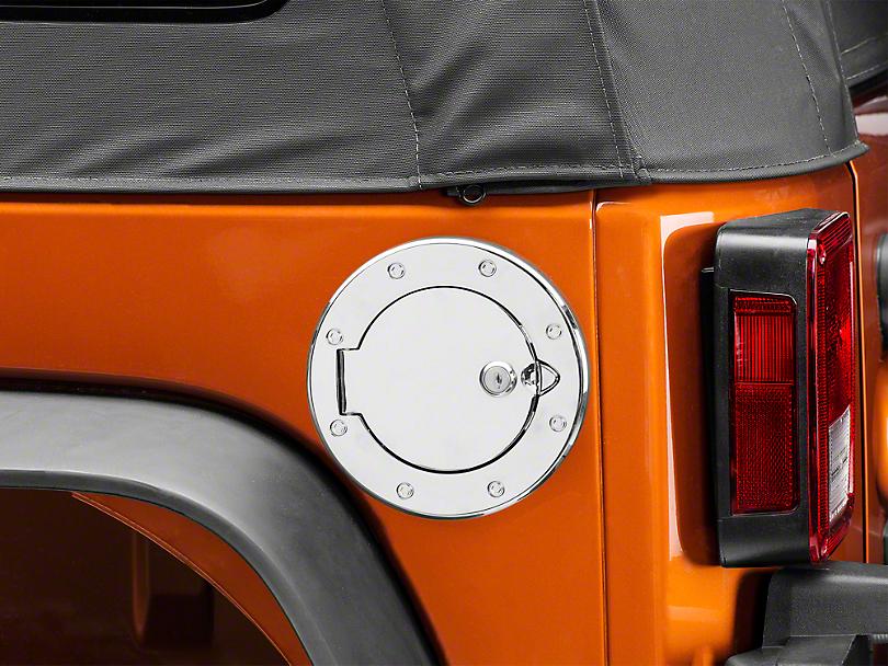 Rugged Ridge Polished Aluminum Locking Fuel Cover (07-18 Wrangler JK)