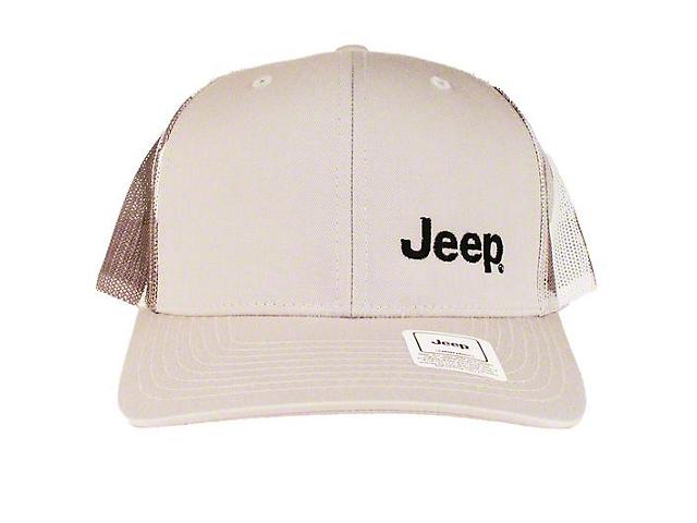 Jeep Richardson Trucker Hat; Heather Gray/Camo