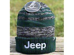 Jeep Flip Knit Hat Echo; Forest/Black/Grey