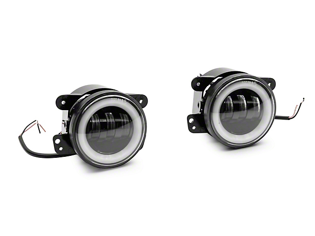 4-Inch LED Fog Lights with RGB Angel Eye Halo (07-21 Jeep Wrangler JK & JL)