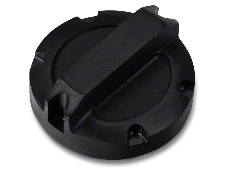 Rugged Ridge Power Steering Reservoir Cap - Black Aluminum (07-11 Jeep Wrangler JK)