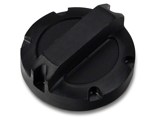 Rugged Ridge Power Steering Reservoir Cap; Black Aluminum (07-11 Jeep Wrangler JK)