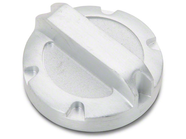 Rugged Ridge Power Steering Reservoir Cap; Brushed Aluminum (07-11 Jeep Wrangler JK)