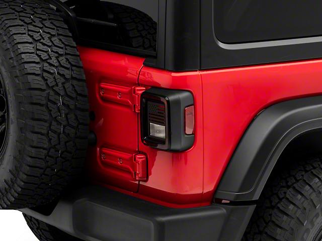 Tail Light Guards; USA Flag (18-21 Jeep Wrangler JL w/o Factory LED Tail Lights)