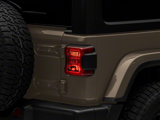 Tail Light Guards; USA Flag and Terrain (18-21 Jeep Wrangler JL w/ Factory LED Tail Lights)