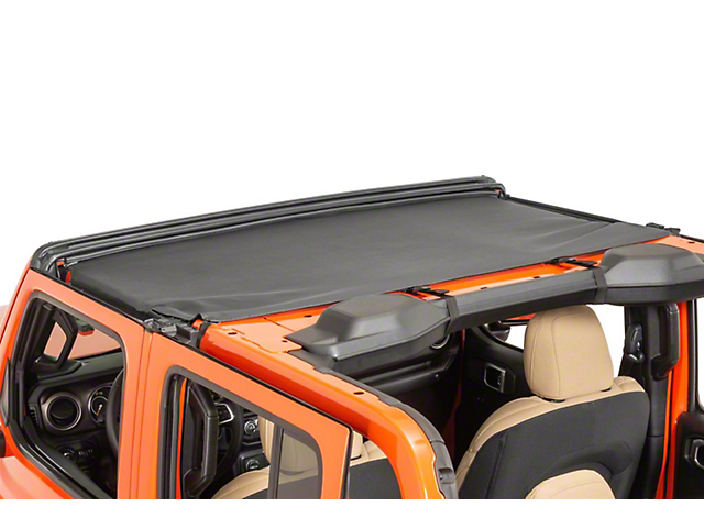 MasterTop Bimini Top; Black Diamond (20-21 Jeep Gladiator JT)