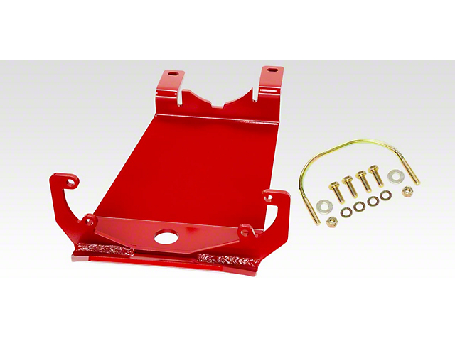 Rancho rockGEAR Dana 30 Front Differential Skid Plate; Red (18-21 Jeep Wrangler JL, Excluding Rubicon)