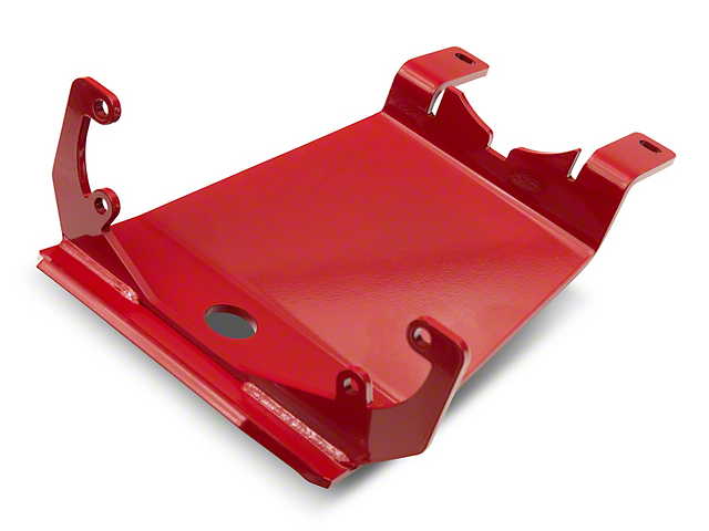 Rancho rockGEAR Dana 44 Front Differential Skid Plate; Red (18-21 Jeep Wrangler JL Rubicon)