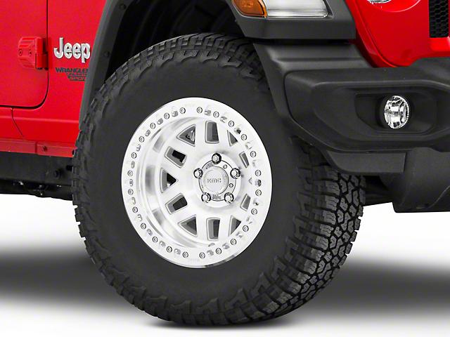 KMC Machete Crawl Machined Wheel; 17x9 (20-21 Jeep Gladiator JT)