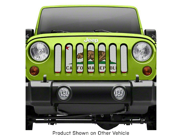 Grille Insert; California State Flag (20-21 Jeep Gladiator JT)
