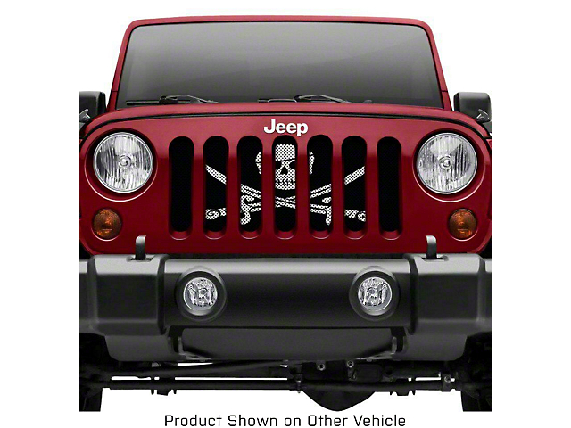 Grille Insert; Pirate Flag (18-21 Jeep Wrangler JL)