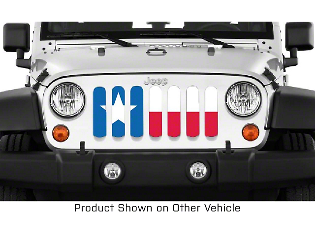 Grille Insert; Texas State Flag (20-21 Jeep Gladiator JT)