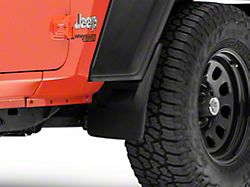 Weathertech No-Drill Mud Flaps; Front and Rear; Black (18-21 Jeep Wrangler JL Sport)