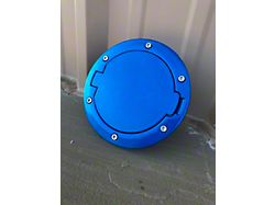 Non-Locking Fuel Door; Hydro Blue (07-18 Jeep Wrangler JK)
