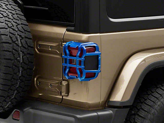 Tail Light Guards; Ocean Blue (18-21 Jeep Wrangler JL w/ Factory LED Tail Lights)