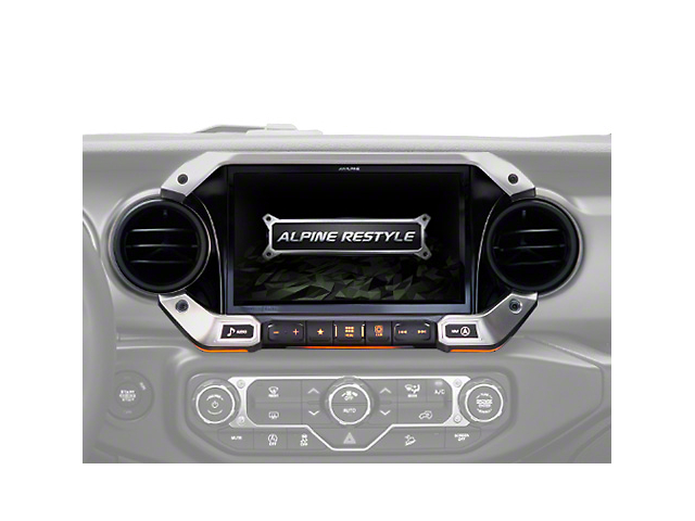 Alpine 9-Inch Weather-Resistant Navigation System with Off-Road Mode (18-21 Jeep Wrangler JL)