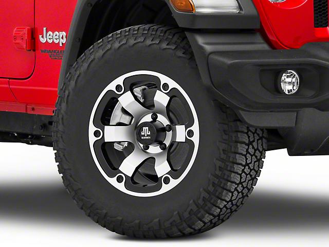 Mammoth Rogue Matte Black Machined Wheel; 17x9 (18-21 Jeep Wrangler JL)