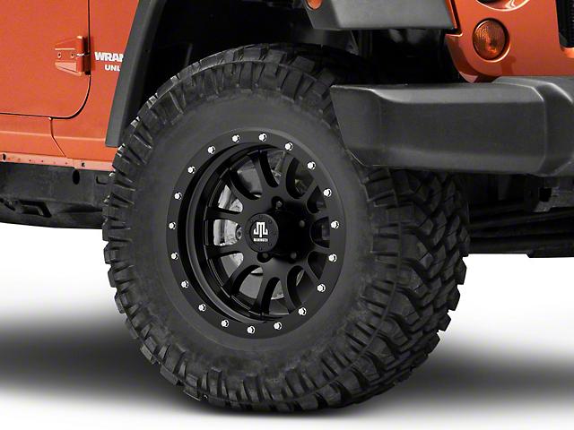 Mammoth 12 Hole Beadlock Satin Black Wheel; 17x9 (07-18 Jeep Wrangler JK)