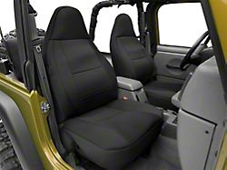 RedRock 4x4 Custom Fit Front and Rear Seat Covers; Black (97-02 Jeep Wrangler TJ)