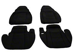 RedRock 4x4 Custom Fit Front and Rear Seat Covers; Black (03-06 Jeep Wrangler TJ)